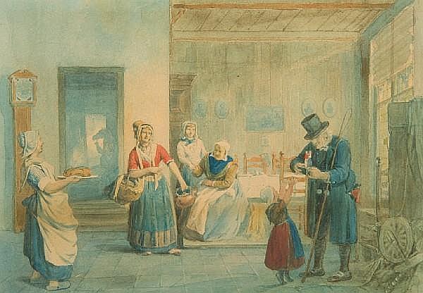 Reinier Craeyvanger (Dutch, 1812-1880) 17.5 x 26cm.