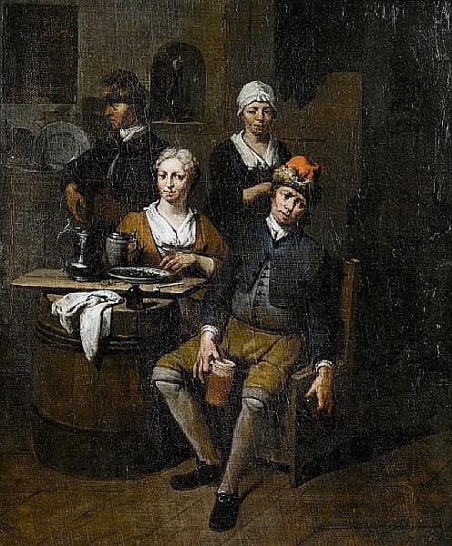 Jan Baptist Lambrechts (Antwerp 1680-circa 1731) A tavern interior