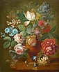 Johannes Christianus Roedig (The Hague 1751-1802) Tulips, roses, convolvulus and other flowers, Johannes Christiaan Roedig, Click for value