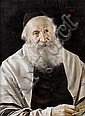 Otto Eichinger (Austrian, born 1922) Portrait of a rabbi wearing a yarmulke, Otto Eichinger, Click for value
