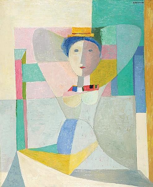 Avraham Naton (Israeli, 1906-1959) Woman on a chair