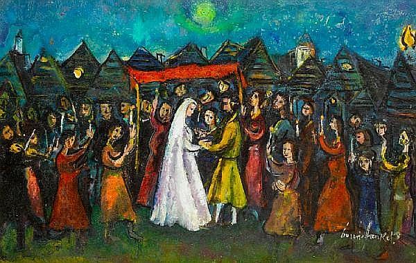 Boris Borvine Frenkel (Polish, 1895-1984) The Chuppah