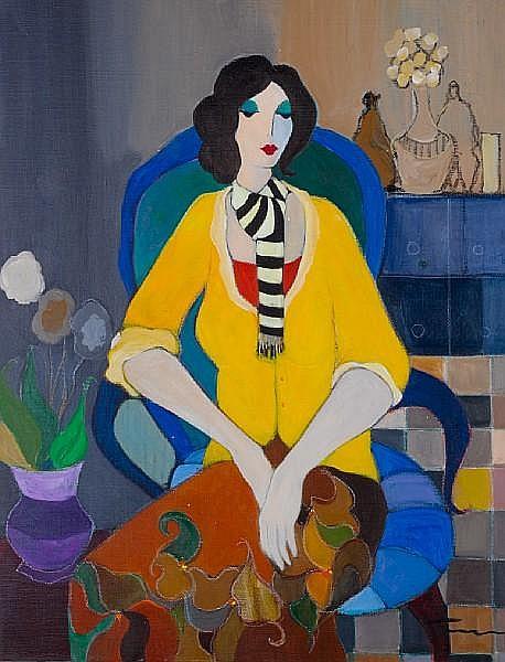 Itzchak Tarkay (Israeli, born 1935) Seated woman