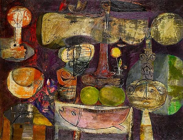 Naftali Bezem (Israeli, born 1924), painted 1958-1959 Set table