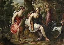 Circle of Jan van Balen (Antwerp 1611-1654) Diana the Huntress