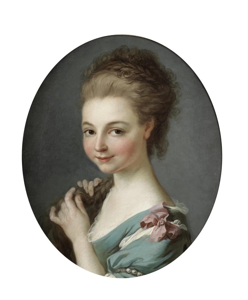 Alexander Roslin (Malmo 1718-1793 Paris) Portrait of a young girl