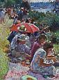 Mark Rowbotham (British, b.1959) Umbrellas at Attersley, Mark Rowbotham, Click for value