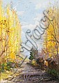 Alfredo Helsby (Chilean, 1862-1933) Autumn Lane, Penaflor, Chile, Alfredo Helsby, Click for value