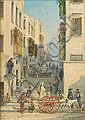 Girolamo Gianni (Italian, 1837-1895) Valletta street scenes, a pair, Girolamo Gianni, Click for value