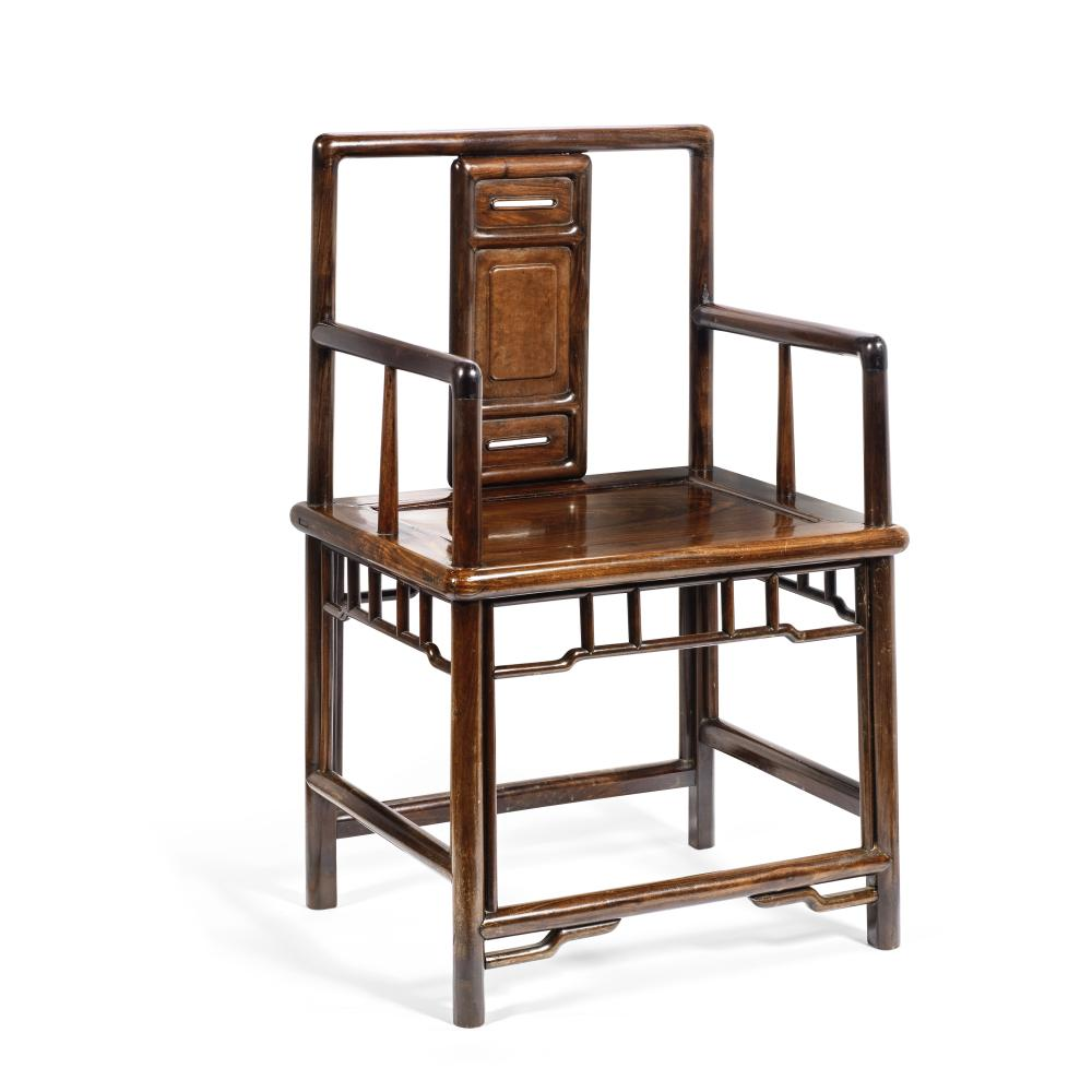 A HUANGHUALI 'ROSE' ARMCHAIR 18th/19th century