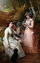Thomas Brooks (British, 1818-1891) The Love Test, Thomas (1818) Brooks, Click for value