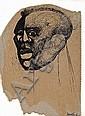 Dumile Feni-Mhlaba (Zwelidumile Mxgazi) (South African, 1942-1991) Head study,  Dumile, Click for value