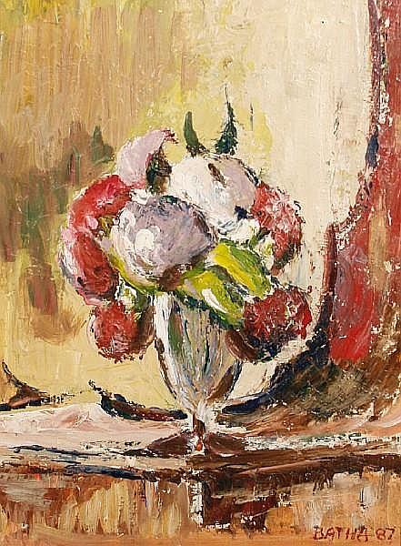 Gerhard Batha (South African, born 1937) Still life of flowers