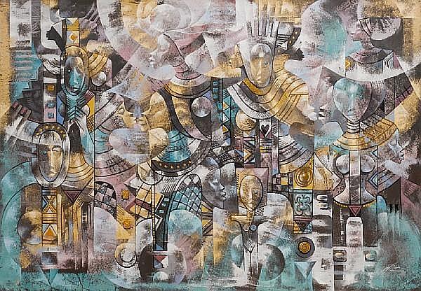 Wisdom (Wiz) Kudowor (Ghanaian, born 1957) 'Ode to matriachy [sic]'
