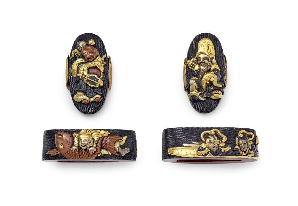 Two Fuchi-gashira Edo period (1615-1868), early 19th century
