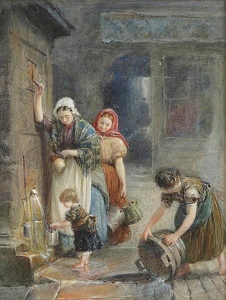 George Manson (British, 1850-1876) The Fountain Well, Edinburgh