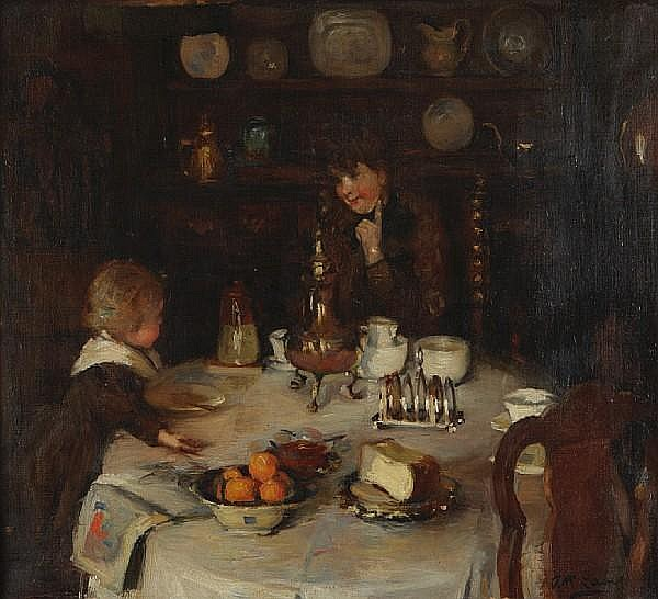 Annie Rose Laing (Scottish, 1869-1946) The Breakfast table