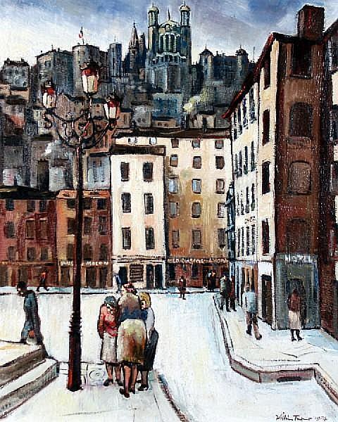 William Turner (Chorlton-on-Medlock 1920) 'La Place Saint Jean (et la Basilique de Fourviere)'