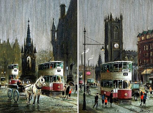 Arthur Delaney (British, 1927-1987) 'Albert Square' and 'Deansgate', a pair