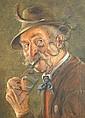 Hans Barttenbach (German, born 1908) A pair of elderly German figure portraits (2), Hans  Barttenbach, Click for value