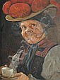 Hans Barttenbach (German, born 1908), A pair of Black Forest rustic figure portraits (2), Hans  Barttenbach, Click for value