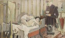 AR Geoffrey Tibble (British, 1909-1952) Nude in an interior