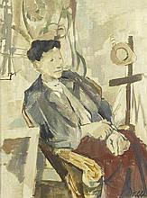 AR Geoffrey Tibble (British, 1909-1952) Portrait of a seated man