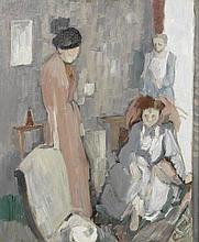 AR Geoffrey Tibble (British, 1909-1952) Three women in an interior