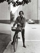 Sid Avery (1918-2002); Audrey Hepburn on her Bike with Her Dog 'Famous' at Paramount Studios, Los Angeles;