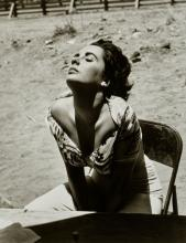 Sid Avery (1918-2002); Elizabeth Taylor Sunning Herself on the Set of 'Giant', Marfa, Texas;