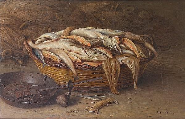 Raffaello Celommi (Italian, 1881-1957) A good catch