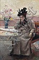 Frantz Charlet (Belgian, 1862-1928) En visite