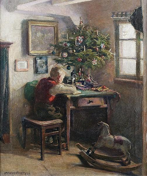 Andreas Bach (German, born 1886) Christmas morning