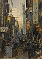 Erich Kips (German, 1869-died circa 1945) Hong Kong street (towards Victoria Peak) 50 x 35 cm. (19¾ x 13¾ in.), Erich Kips, Click for value
