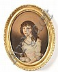 Thomas Peat (British, active 1791-1831) Portrait of a lady with a spaniel, Thomas Peat, Click for value