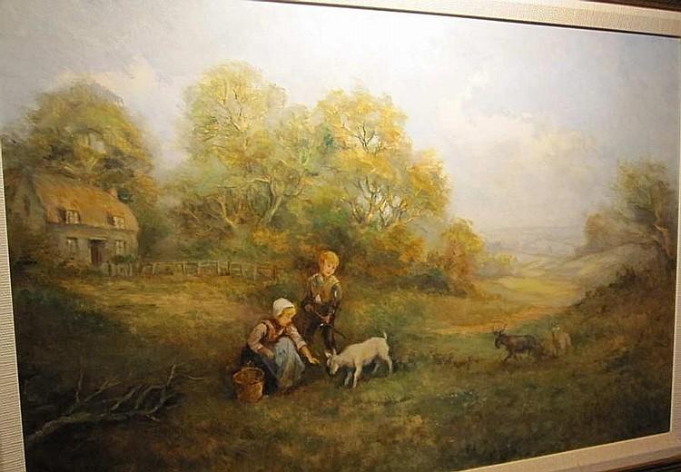 Joseph Frederick Percy Rendell (1872-1955) Pastrol Scenes 48 x 76cm