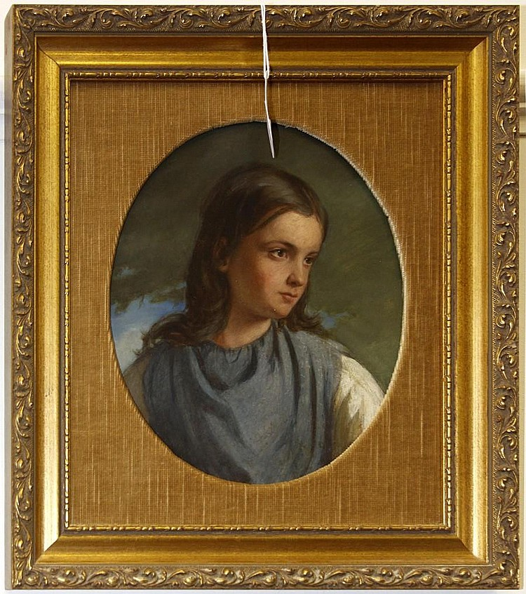 Circle of James Curnock (British, 1812-1870) Portrait of a young girl