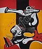 John Christoforou (Greek, born 1921) Panic 300 x 260 cm., John Christoforou, Click for value