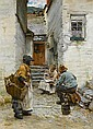 Walter Langley, RI (British, 1852-1922) Cornish fisherfolk, Walter Langley, Click for value