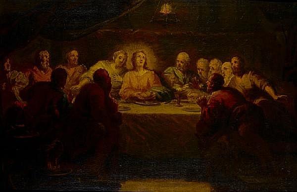 Circle of Johann Franz Michael Rottmayr (Laufen 1654-1730 Vienna) The Last Supper