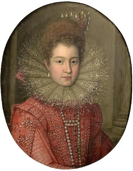 Follower of Scipione Pulzone (Gaeta circa 1550-1598 Rome) Portrait of a noblewoman,