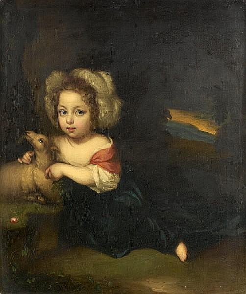 Aleijda Wolfsen (Zwolle 1648-circa 1690) Portrait of a young child as a shepherd,