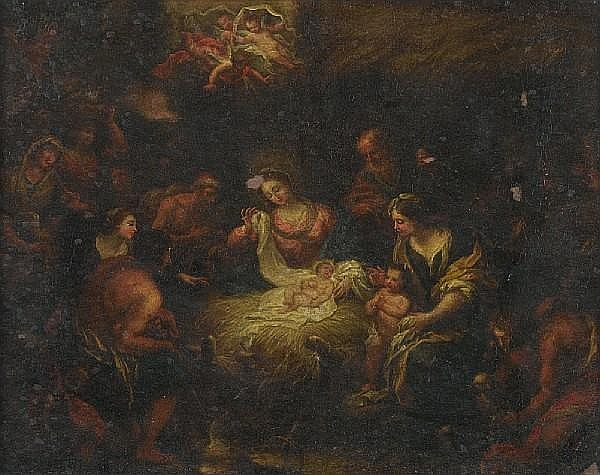 Circle of Giovanni Battista Merano (Genoa 1632-1698) The Adoration of the Shepherds
