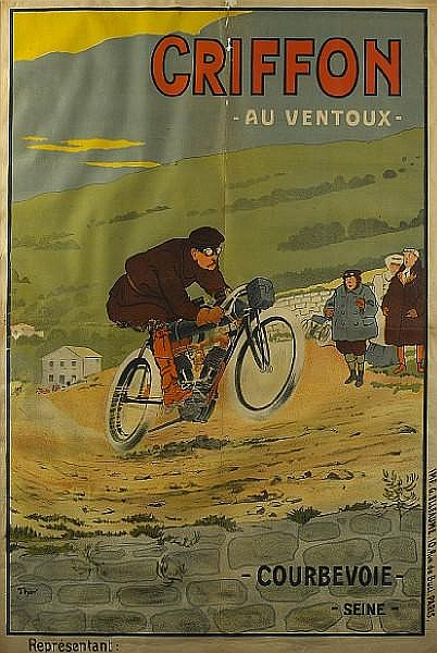 A motorcycle advertising poster 'Griffon Au Ventoux',