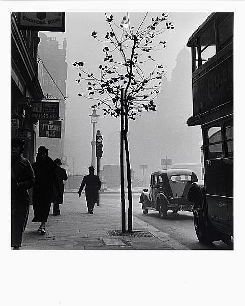 Wolfgang Suschitzky (British, born 1912) Charing Cross Road from No. 84 (Marks & Co.), London, 1937 Paper 50.5 x 40.7cm (19 7/8 x 16in), image 39.4 x 36.8cm (15 1/2 x 14 1/2in).