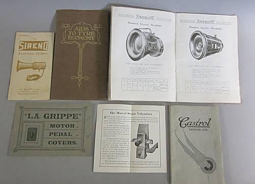 Six motor accessories publications, 1908-1914,