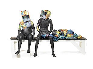Peju Alatise (Nigerian, born 1975) 'Unconscious Struggle' 274 x 117 x 71cm (107 7/8 x 46 1/16 x 27 15/16in).