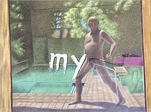 W Manfred Zylla (South African / German, born 1939) 'My Own Pool' (triptych) each panel 159 x 150cm (63 x 59 1/16in) (3)