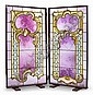 A pair of Jacques Grüber leaded and cameo glass windows , Jacques Gruber, Click for value