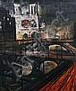 Regis (Count) de Bouvier de Cachard (French, b.1929) Notre Dame, Paris, Regis de Bouvier De Cachard, Click for value